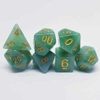 Marbled Jade Dice Set