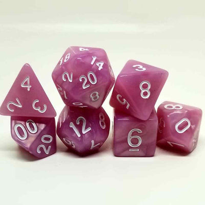 Pink Pearl Dice Set