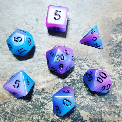 Voidwalker Purple Dice Set