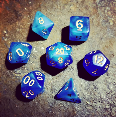 Frost Giant Blue Polyhedral 7-Die Dice Set