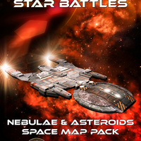 Star Battles: Nebulae and Asteroids Space Map Pack for Fantasy Grounds