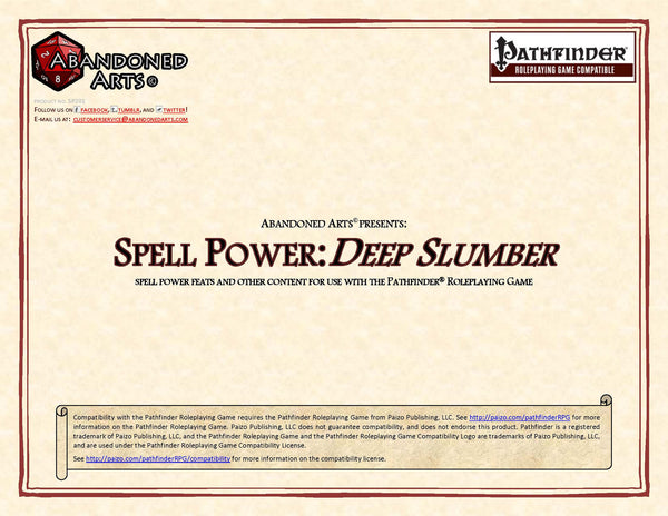 Spell Power: Deep Slumber