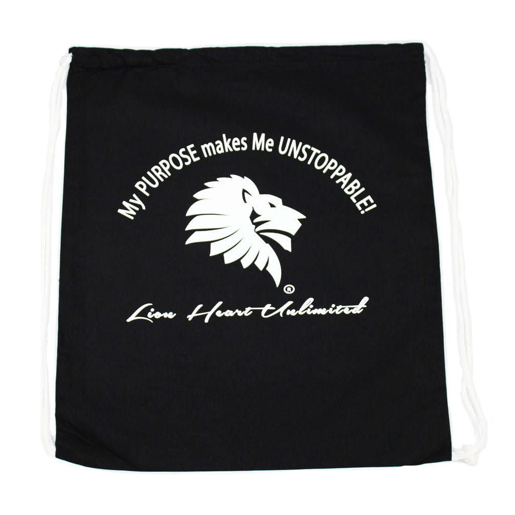 Lion Heart Unlimited Canvas Drawstring Backpack