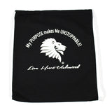 Lion Heart Unlimited Canvas Drawstring Backpack-Backpack-Lion Heart Unlimited