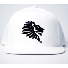 "Load image into Gallery viewer, LHU Heritage Logo Snapback ""White"""