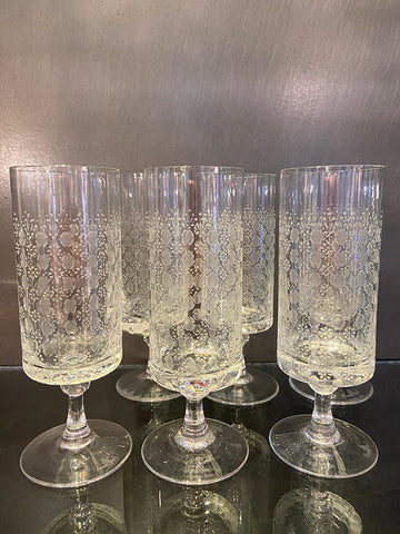 1960s Finest Handblown Rosenthal Wine Glasses
