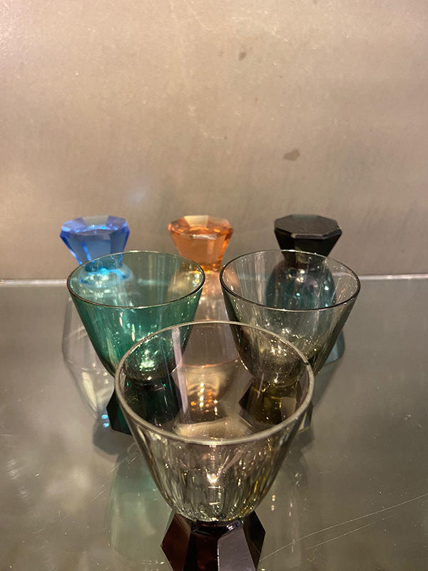 1950s Multi Coloured Shot Glasses