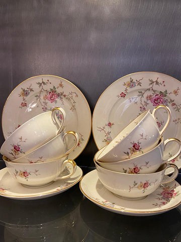 1930s Floral Porcelain Tea Set