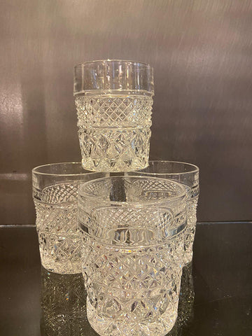 Pairs Of Lead Crystal Whisky Tumblers