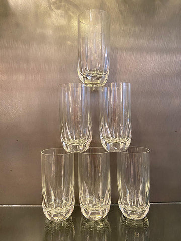 1960s Lead Crystal Water / HighBall Glasses