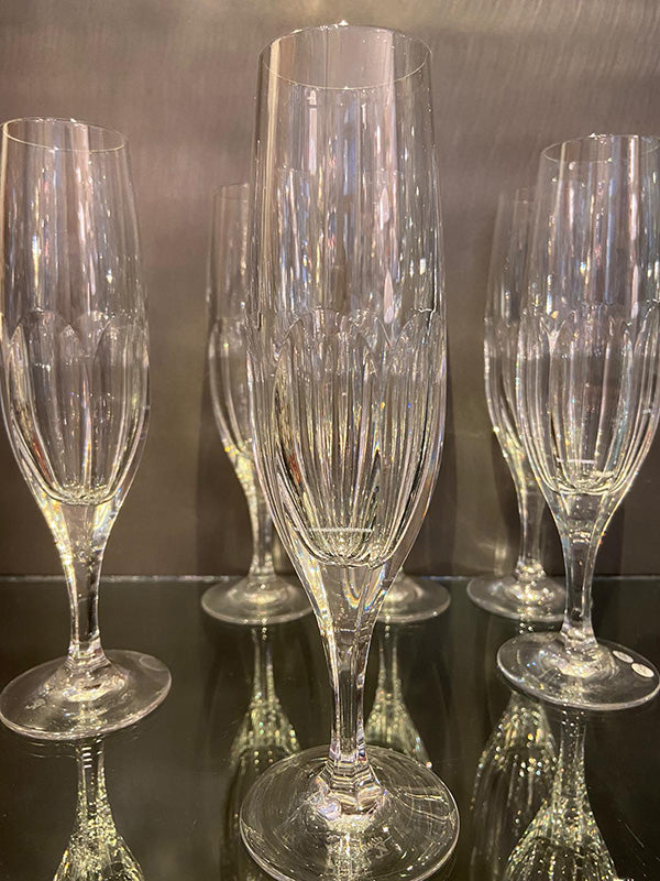 Finest QualityHand Blown Lead Crystal Champagne Flutes