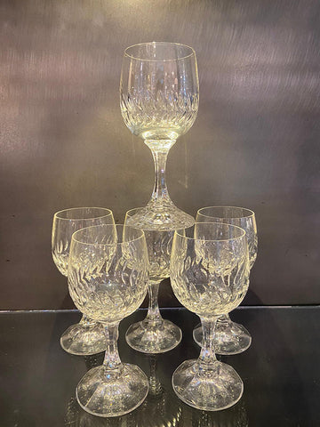 1970s Crystal Wine Glasses