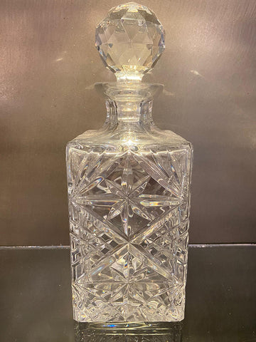 1950s Decanter Hand Cut Lead Crystal