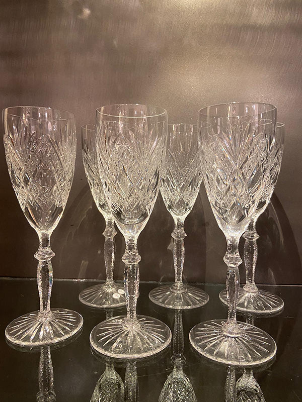 Hand Blown Edwardian Champagne Flutes