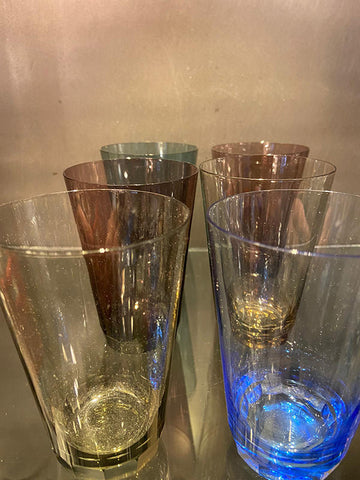 Art Deco Hand Blown Tumblers