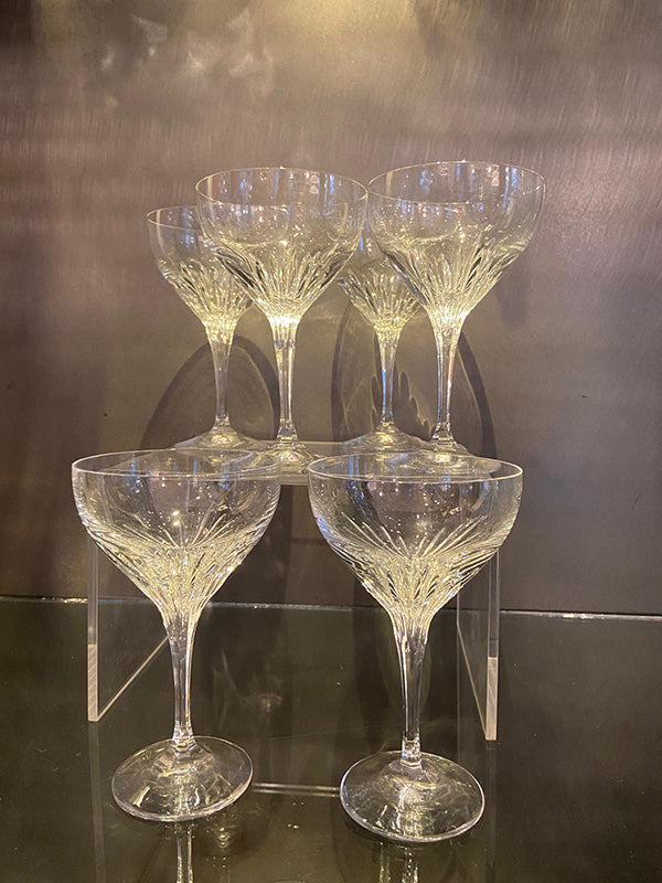 1960s Lead Crystal Cocktail Glasses
