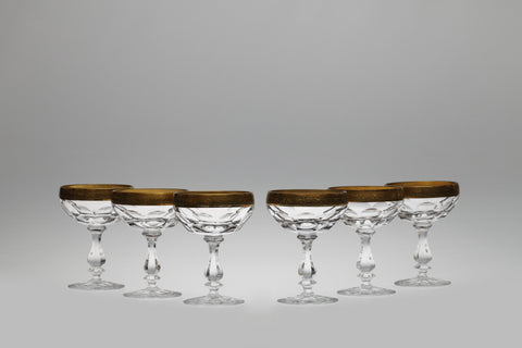 1950s Lead Crystal Liquor Bowls