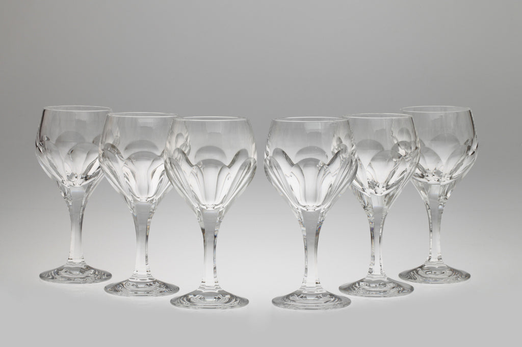 1960s Lead Crystal Wine Glasses