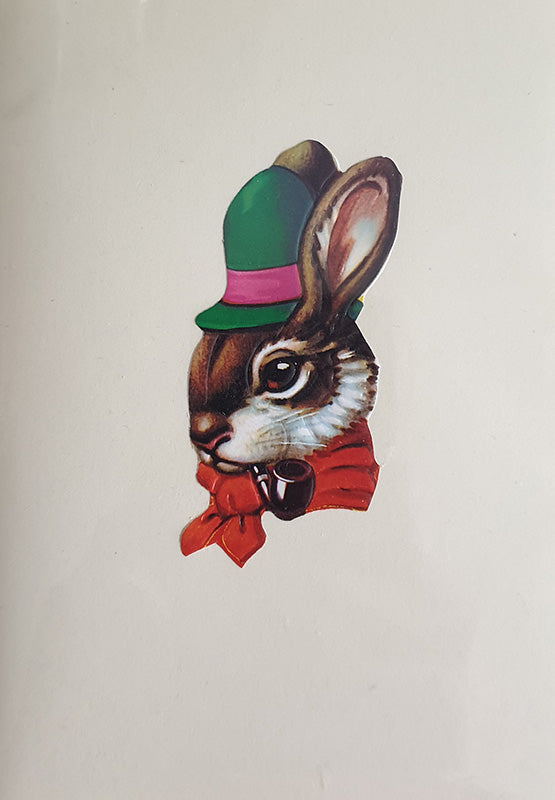 Rabbit Green Hat Greeting Card