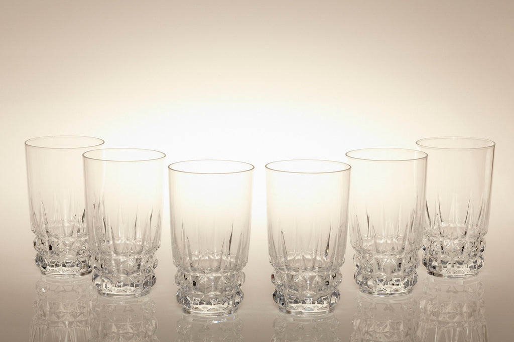1960s Crystal Water Glasses