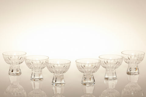 Art Deco Lead Crystal Liquor Bowls
