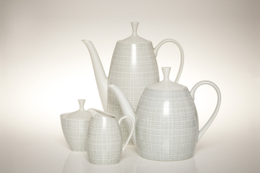 1957 Award winning Arzberg Grey Dinner, Tea and Coffee Set