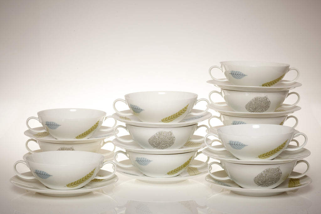 1950s Amazing Rosenthal Studio-Line Leaf Dinner and Coffee Set