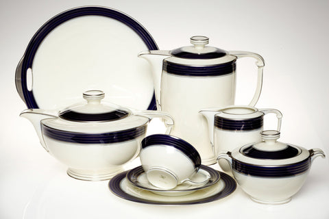 1930s Art Deco Porcelain Tea and Coffee Set