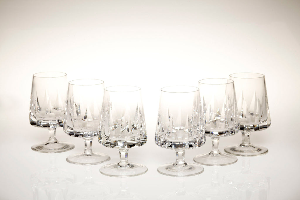 1960s Finest Lead Crystal Brandy Glasses