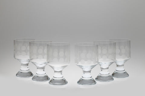 1960s Polka Dot Water Glasses