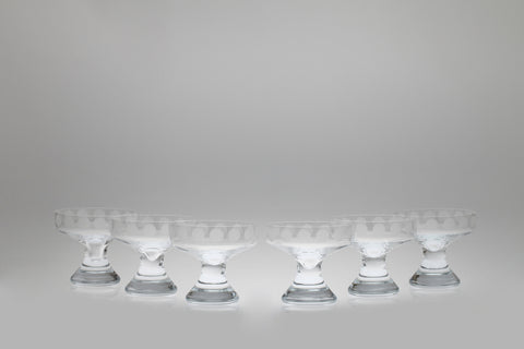 1960s Polka Dot Champagne / Cocktail Glasses