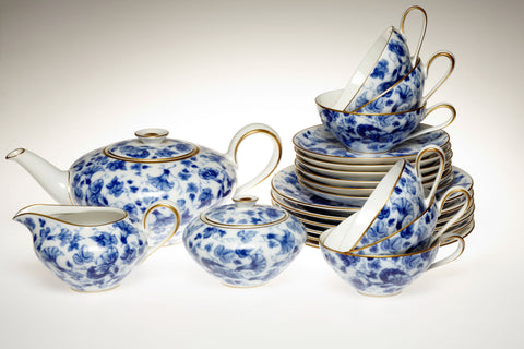1950s Blue and white Porcelain Tea Set