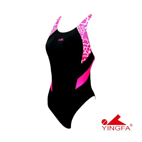Gal's Yingfa New Technical Dive-Suit - Black/Pink