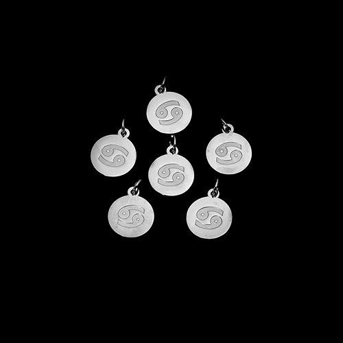 Nickel-Finished Zodiac Charms