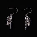 "Platinum-Plated Solid Sterling Silver ""Pike"" Dangle Earrings"