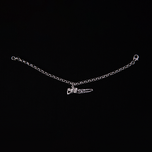 "Male ""Twist"" Charm Bracelet - Sterling Silver"
