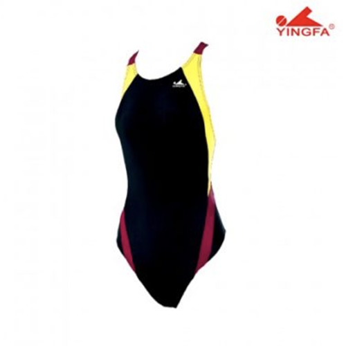 Gal's Dive-Suit - AquaSkin - Black/Yellow/Maroon