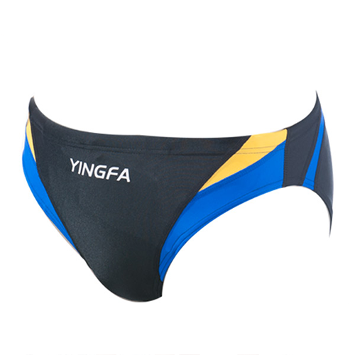 Guy's Yingfa Diving-Suit - Blue and Yellow Stripes