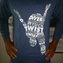 Long Sleeve Blue and Gray Diver Shirts