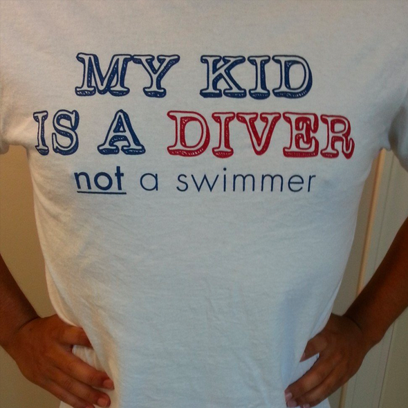 My Kid is a Diver not a swimmer