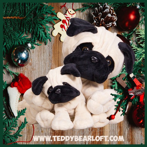Stuff your own teddy bear Pug at Teddy Bear Loft