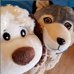 Stuff Your own Teddy Bear Wolf and Puppy from Teddy Bear Loft