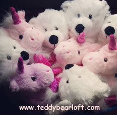 Polar Bear and Unicorn Teddy Bears from Teddy Bear Loft