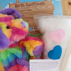 Contents of stuff your own teddy bear kit