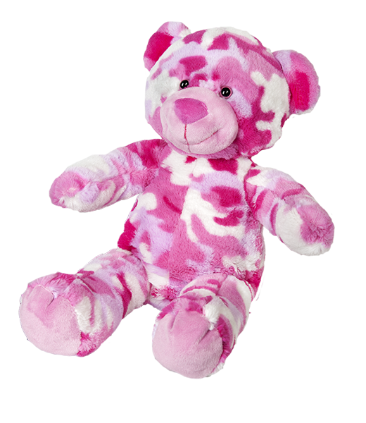 "Cammie the Pink  Bear 16"" l'ours camouflage rose"