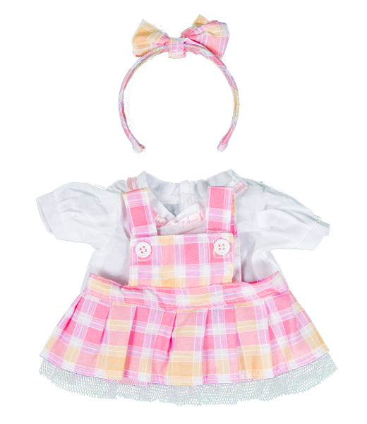Pink Plaid Dress 16""