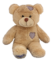 "Buddy l'ours brun 8"" brown bear with patches"