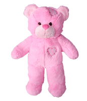 "Pink Patches bear 8"" l'ours rose"