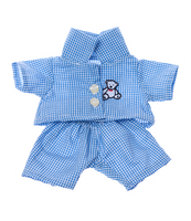 Blue check PJ's 8""
