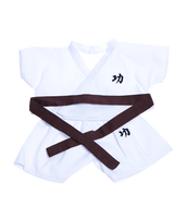 Karate Outfit w/ Colored Belts 16""